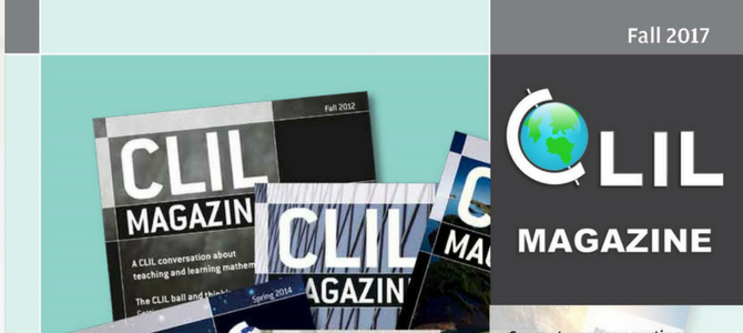 CLIL Magazine Fall 2017 Published